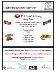 1st Class Staffing Hiring Event
