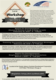 Free Business Law Workshop 3-Part Series! | Session #1: Basics for Entrepreneurs: Choice of Entity (C Corp, S Corp, or LLC) IS NOW FULL!