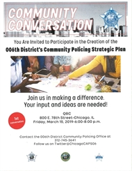 006th District Community Policing Strategy Meeting