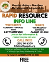 Rapid Info and Resource Line (Dial the new call-in 551-241-6209) for Community Updates!