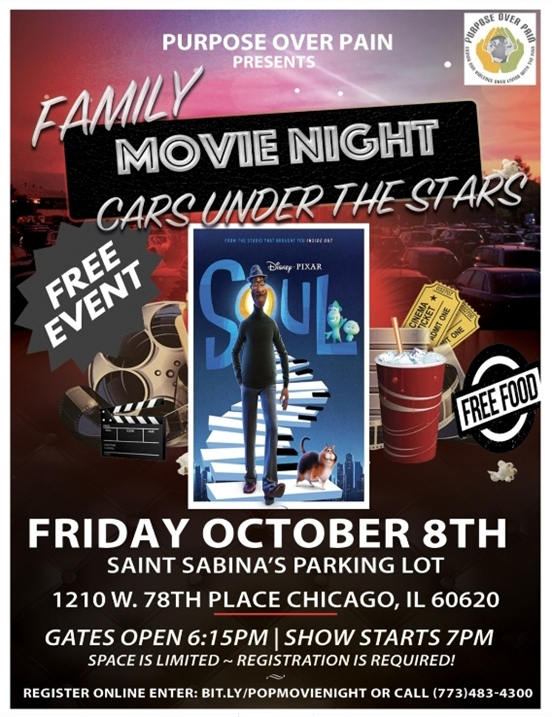 Family Movie Night in Cars Under the Stars, Hosted by Purpose Over Pain