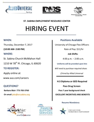 Allied Universal Hiring Event: Dec. 7th, Starts 10am!