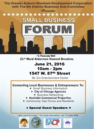 Annual Small Business Forum June 21st