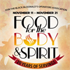 20thAnnual Food for the Body & SpiritVeteran's Day kick-off events!