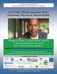 Community Grand Rounds | Let's Talk African American Men's Emotional, Physical and Mental Health