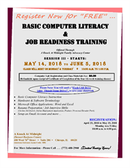 Adult Computer Literacy Classes