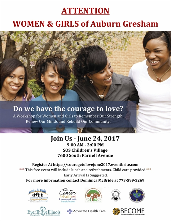 Do We Have the Courage to Love? Join Us For A Workshop for Women and Girls To Remember Our Strength...'!