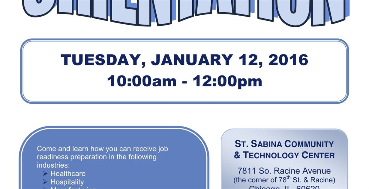 st sabina employment resource center orientation auburn gresham portal