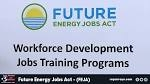 JOB TRAINING OPPORTUNITIES HEADED TO ILLINOIS UNDER FUTURE ENERGY JOBS ACT