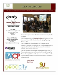 Free Business Idea Incubator! Classes Starts Next Week RSVP Today