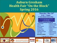 Auburn Gresham Spring Health Fair 'On The Block' 2016