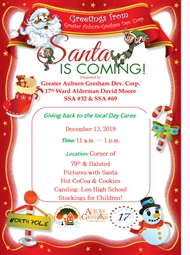 Auburn Gresham Day Care Centers, Santa is Coming to 79th Street 12/13!