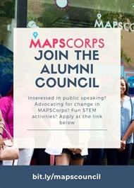 MAPSCorps, Apply for Alumni Council by Sept. 30th!