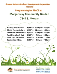 Morganway Garden Safe and Peaceful AUGUST Programs