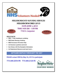 NeighborWorks 2013 Volunteers Needed!