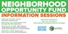 Neighborhood Opportunity Fund (NOF) Info Session Series Schedule