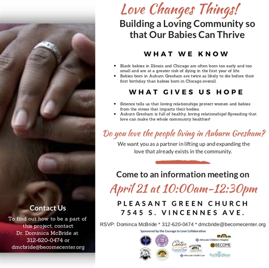 Auburn Gresham Mothers, Come Learn How to Build a Loving Community!