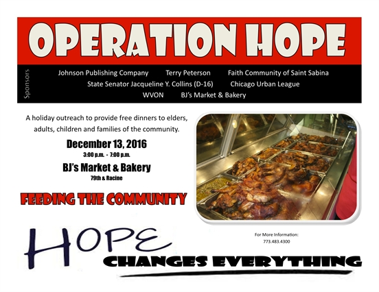 Operation Hope 2016 Free Holiday Dinner
