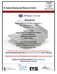PACTIV Hiring Event