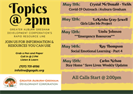 Topics @2pm: Rapid Resource Information Line -  May Week #6 Lineup!
