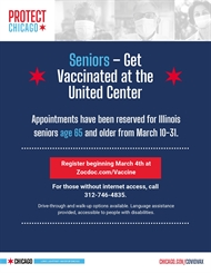 Vaccine Registration for Seniors Opens MARCH 4!