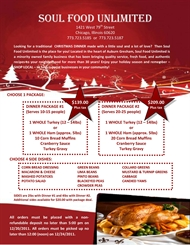 Soul Food Unlimited - BUSINESS CLOSED - SPACE AVAILABLE!