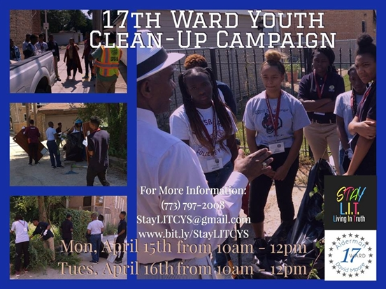 17th Ward Youth Clean-Up Volunteer Project April 15th and 16th Join Us!