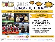 Auburn Gresham GOLD Summer Camp Registration is OPEN!