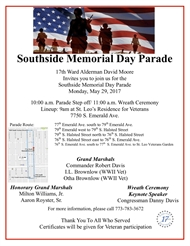 Southside Memorial Day Parade On May 29th
