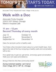 Advocate Trinity Starts New Health, Walking Program