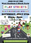 PlayStreets West Chatham 8 Annual Block Party July 2019