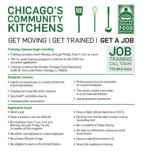 Chicago's Community Kitchens Job Training Program